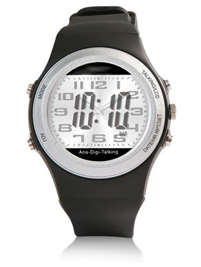Reloj digital de pulsera con función de voz, hora, día de la semana, despertador: Amazon.es: Relojes