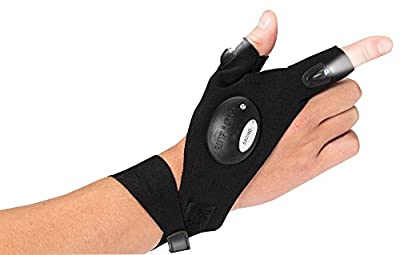 Light Up Glove - LED, Multipurpose, Perfect for Working in Dark Places, Extra Bright LED Lights for Doing Repairs or Running, Camping, Hiking