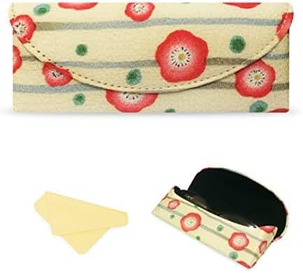 Yulan Soft Glasses Case,Floral Print Ultra Light Case For Eyeglasses and Sunglasses