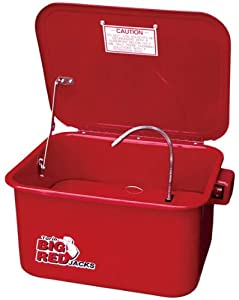 1. Torin Big Red Steel Cabinet Parts Washer with 110V Electric Pump, 3.5 Gallon Capacity