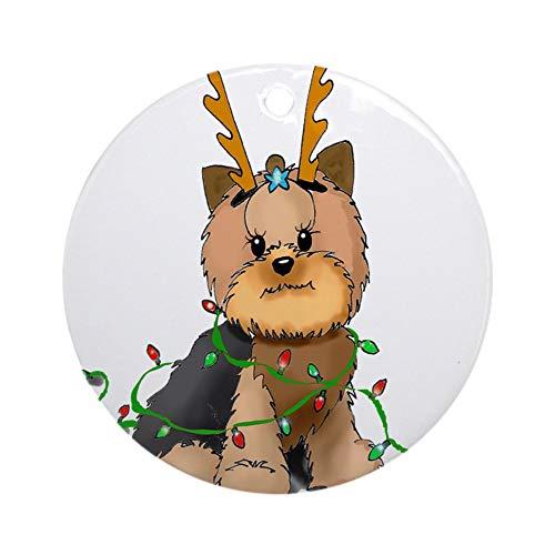 Yorkie Teacup Ornament - CafePress Christmas Yorkie Ornament (Round) Round Holiday Christmas Ornament