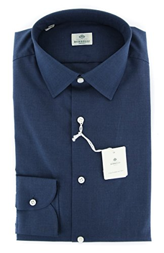 new-luigi-borrelli-navy-blue-solid-extra-slim-shirt