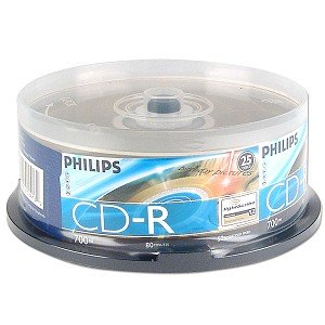 Philips 25pk 52x LightScribe CDR