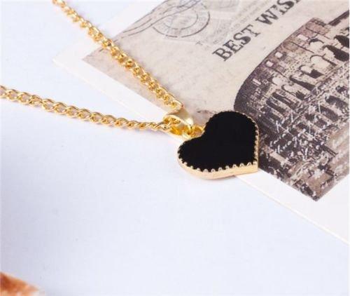 [Gold Plated Heart Pendant Bib statement Chain Necklace Fashion Women Jewelry Gold.] (Vintage Costume Jewelry Lot)