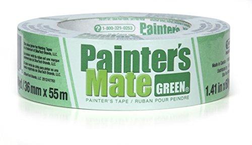 Painter's Mate CP 150 Multi Purpose Painter's Mate Crepe Paper Masking Tape, 55m Length x 36mm Width, (Painters Mate Green)