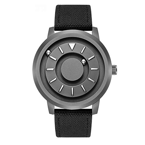 PAKITHEN Neutral Watches Men and Women Large Dial Magnetic Ball Stainless Steel Student Simple Fashion Business Cool Quartz Watch