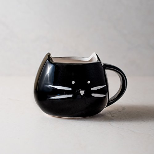 Ankit Black Kitty 12 Oz Coffee Mug Ceramic Coffee Mug Funny Novelty Fun Gifts For Mom Co Worker Girl Her Wife Gf Girl Friend Sister Mother In Law Daughter Grandma Cool Coffee