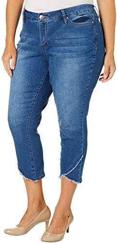 - Royalty by YMI Plus Asymmetrical Hem Ankle Jeans 16W Medium Blue