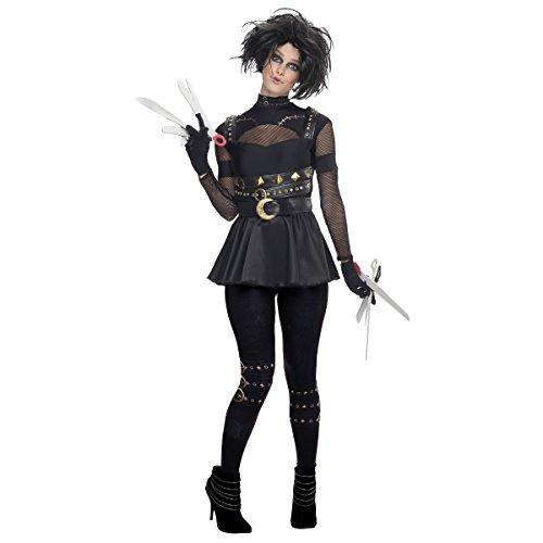 Edward Kids Costume Scissorhands (Female Edward Scissorhands Costume - Medium - Dress Size)
