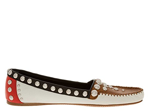 Prada Shoes Panna Loafer panna Women Donna Nero Marrone nero 8445i Mocassino Scarpa Marrone SOgqSHd