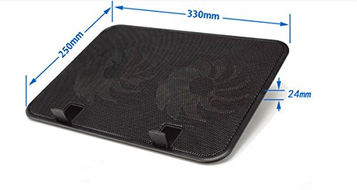 Laptop Cooler, Metal Mesh Surface 2 Quiet Fans 1 USB Ports Lap Desk Air Cooling Pad, Mat for 12'' 13'' 14'' inch (White) by CHRISTYZHANG (Image #3)'