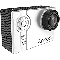 Andoer AN7000 4K 1080P 120fps 720P 240fps Full HD Adopt for Ambarella A12S75 16MP WiFi Anti-shake Waterproof Diving 60m 2.0 LCD 166°Wide Angle Lens Sports DV Cam