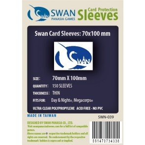 Swan Card Sleeves (70x100mm) - 150 Pack, Thin Sleeves - Day Night, Megacorps