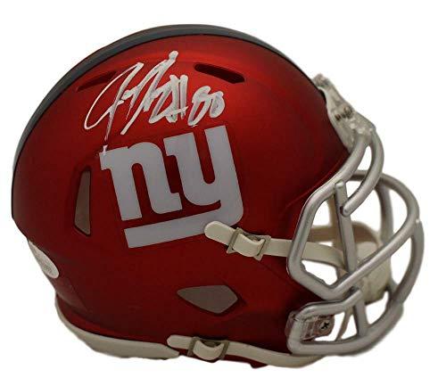 Jeremy Shockey Autographed/Signed New York Giants Blaze Mini Helmet JSA ()
