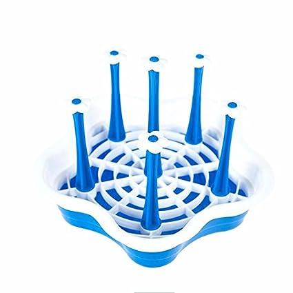 lzzfw Plástico Creativo Lek Yuen Portavasos Agua Cocina Racks Tazón de Agua Cristal admitir portavasos para