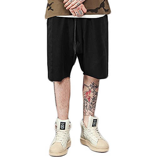 Just No Logo Men's French Terry Drop Crotch Baggy Sweat (French Terry Logo Short)