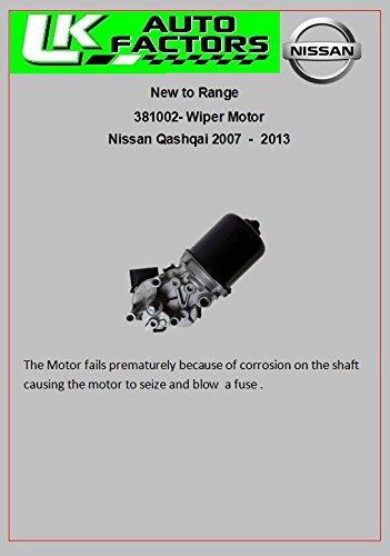 WINDSCREEN WIPER MOTOR FRONT FOR NISSAN QASHQAI 2007 ON J10 QASHQAI+2 UK MODELS EU MANUFACTURED