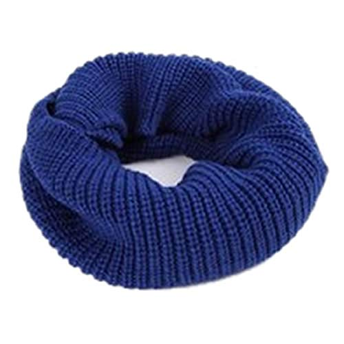 Men Women's Infinity 2Circle Cable Knit Cowl Neck Long Scarf Shawl -