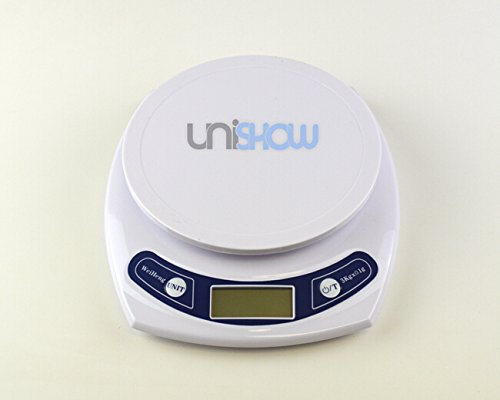 UNISHOW 3kg X 0.1g Digital Precision Electionic Kitchen Scale Jewelry Coins Reload By Bubble Star (B: 3kg X - Acrylic Multi Platform
