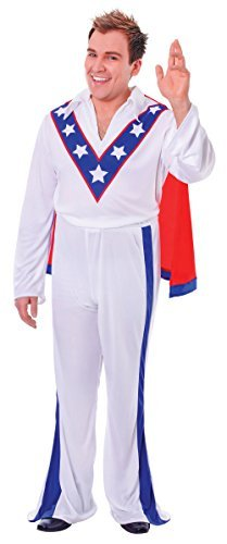 MALE WHITE EVEL KNIEVEL 1970s STUNTMAN FANCY DRESS ONE SIZE COMPLETE OUTFIT by Bristol Novelties (70s Outfits For Men)