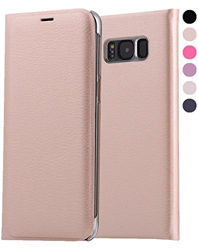 Price comparison product image Galaxy S8 Plus Wallet Case,  GreenElec [Drop Protection] [Shock Absorbing] [ID Card / Cash Slot] Premium Quality Wallet Case Flip Cover for Galaxy S8+ (Rose Gold)