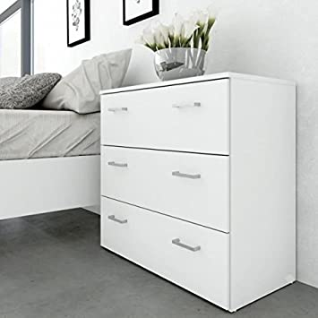 Space Commode 3 Tiroirs 74 Cm Blanc Amazon Fr Bebes Puericulture