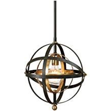 Uttermost 22039 Rondure 1 Light Sphere Pendant, Mini