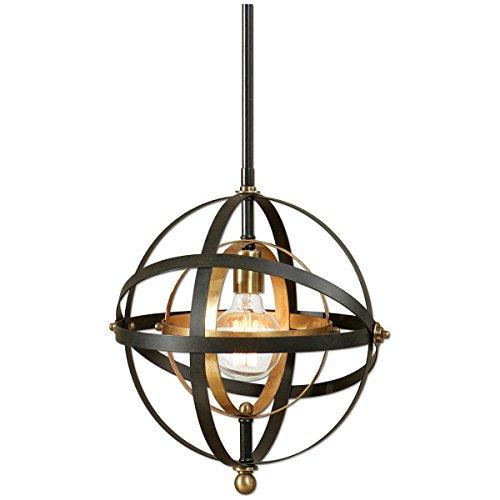 Antique Pendant Light Dark Brass in Florida - 8