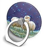 Yuotry 360 Degree Rotating Ring Stand Grip Mounts Stars Night Sheep Universal Phone Ring Bracket Holder Smartphone Ring Stent