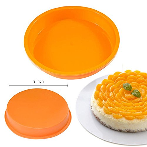 "Kitchen, Dining & Bar 9"" Round Silicone Cake Mold Pan Muffin Chocolate Pizza Pastry Baking Tray Mould"