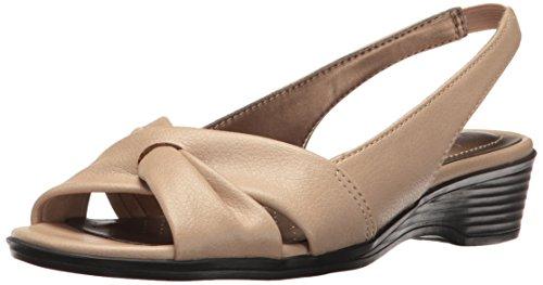 LifeStride Women's Mimosa 2 Flat Sandal, Tender Taupe, 9 W US by LifeStride