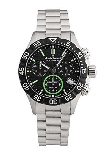 Claude Bernard Ladies-Wristwatch Aquarider Chronograph Date Analog Quartz 10209 3M NV