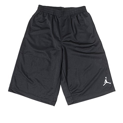 Boys Nike Air Jordan Mesh Athletic Shorts (Medium, Black) Jordan Embroidered Shorts