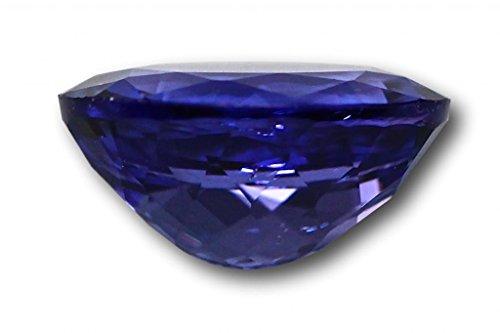 Tanzanite véritable 2,38 carats 9,6 x 7,5 x 4,9 mm