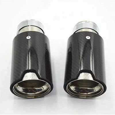 1Pc New Exhaust Muffler Silencer Pipe Tip For BMW Universal ////// M Carbon Fiber