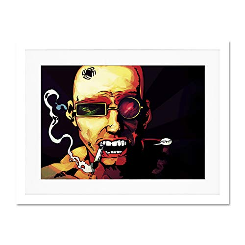 Spider Frame Mount - Doppelganger33 LTD Comic Book Transmetropolitan Glasses Smoking Spider Large Art Print Poster Wall Decor 18x24 inch Supplied Ready to Hang with Included Mount Brackets