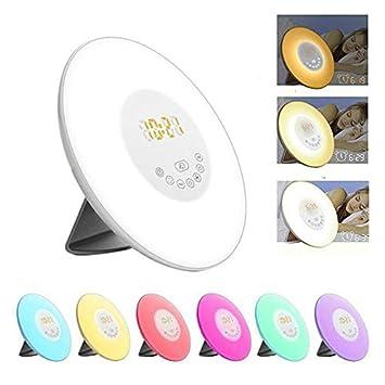 Alaso Simulation Radio De Réveil Lampe Lever Et Lumière XiPuTOkZ
