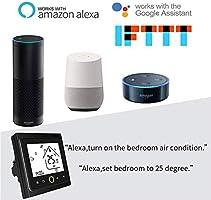 Qiumi Termostato Wifi Termostato de agua programable de Wifi Pantalla LCD El controlador de temperatura funciona con Amazon Alexa Google Home IFTTT 5A 95~240V AC: Amazon.es: Bricolaje y herramientas