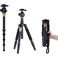 AFAITH AF-Q666 Adjustable Alloy Camera Tripod Monopod with 360 Quick Release And Ball Head for Digital SLR Camera
