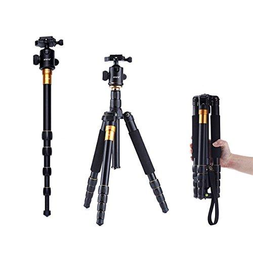 AFAITH® Profeshional Tragbare Magnesium-Aluminiumlegierung Stativ Monopod & Kugelkopf SLR-Kamera Canon Nikon Sony Pentax