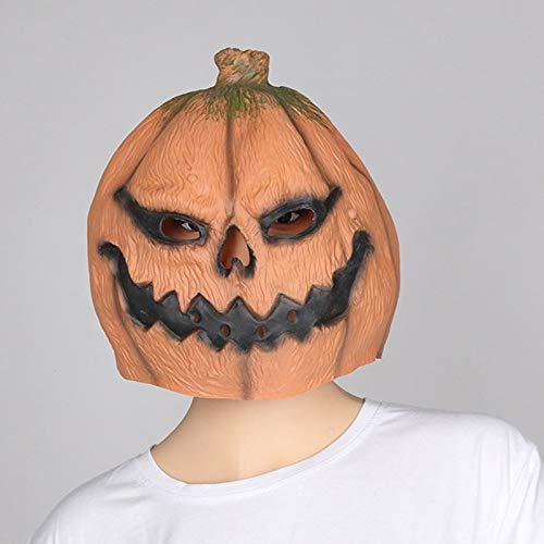 Culturemart Halloween Pumpkin Ghosts Scary Mask Latex Creepy Party Props Cosplay Costume Halloween Festival Head Masks Adult Funny Ball caps -