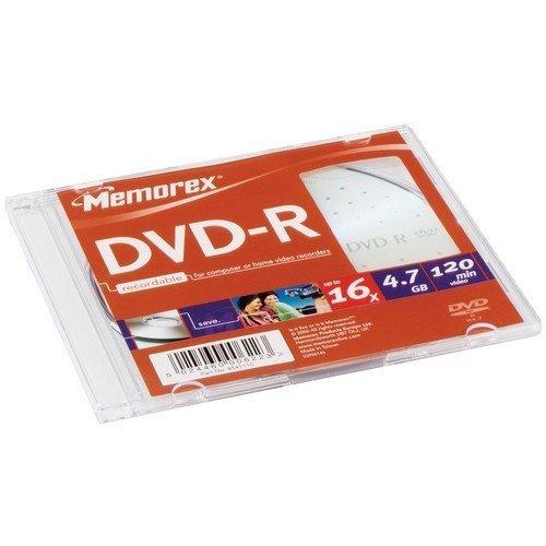 Memtek Memorex 16x DVD-R Media - 4.7GB - 120mm Standard -...