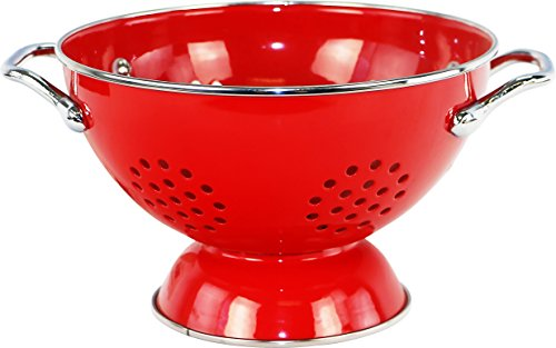 Calypso Basics by Reston Lloyd Powder Coated Enameled Colander, 1.5 Quart, - Colander 1.5 Quart