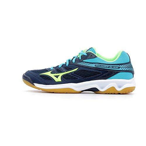 Mizuno Herren Thunder Blade Volleyballschuhe bleu marine/vert gecko/bleu turquoise