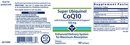 Life Extension Super Ubiquinol COQ10 with Enhanced Mitochondrial Support 100 mg 60 Softgels by Life Extension (Image #1)