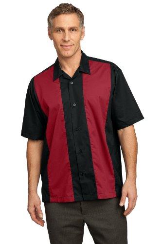 - Port Authority Men's Retro Camp Shirt XXL Black/Red