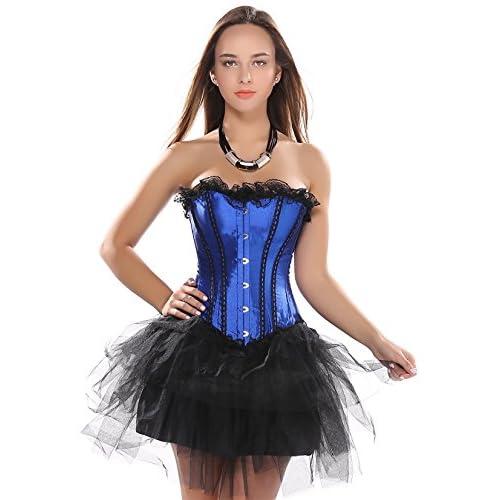 Rosfajiama Dentelle Lingerie Burlesque Bustier Moulin Rouge Vampire Corset  Robe cheap 024b4eddb76