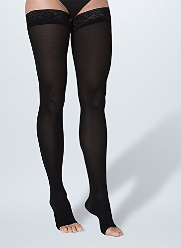 SIGVARIS Women's Soft Opaque 840 Open Toe Compression Thigh Highs ()