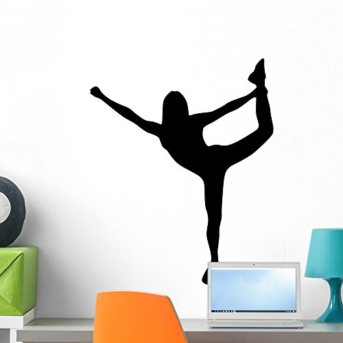 Wallmonkeys WM121471 Cheer Silhouette Style Black Peel and Stick Wall Decals (24 in H x 19 in W), Medium -
