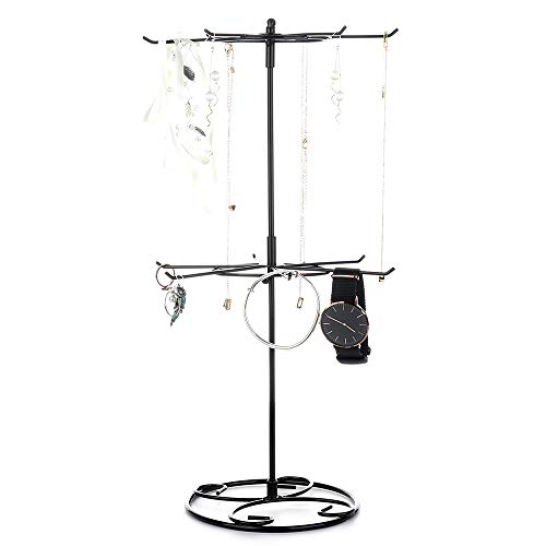 (2 Tier/3 Tier Counter Top Spinner Rack Jewelry Organizer Tower Necklace Tree Display Stand)